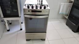 Título do anúncio: Fogão Brastemp 4 bocas cor Inox com grill e timer digital - BF150AR