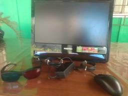 Cpu-integrado com monitor positivo