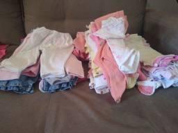 Lote de roupas de bb feminina