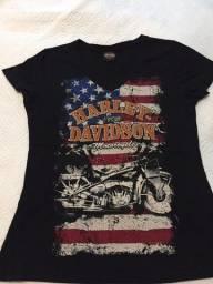Camiseta - Harley Davidson - Feminina - Tam G