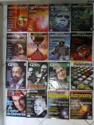 Lote de Revistas: Cientific American do Brasil, Astronomy . Gênios da Ciência e outras