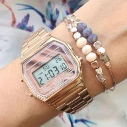 Relógio Clássico Vintage Casio Rose!