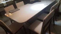Mesa de luxo 6 cadeiras
