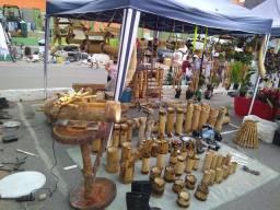 Artesanatos em bambu