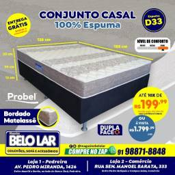 Cama Probel Casal De Espuma D33,