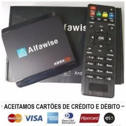 Título do anúncio: Smart tv Android alfawise 4k vários programas leia discrição