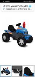 Título do anúncio: Quadriciclo Infantil Trator Country com Pedal Brinquedos Bandeirante Azul<br><br>