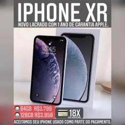 iPhone XR 64gb novo, ACEITAMOS SEU IPHONE USADO COMO PARTE DO PAGAMENTO.