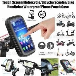 Título do anúncio: Kit Motoboy/Motociclista -suporte Celular360° ipermeavel+ Carregador de celular/gps