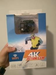 Sport Cam 4k com visor + Acessórios