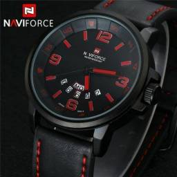 Relógio Masculino Naviforce 9028 Original Couro