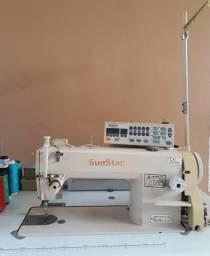 Máquina de costura eletrônica reta Industria