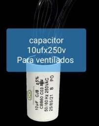 Capacitor de 10uf x 250 Volts para Ventiladores