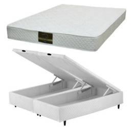 Cama box baú King Size e colchão de espuma D33