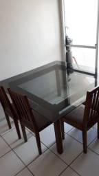 MESA DE VIDRO GRANDE (6 cadeiras)