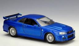 Miniatura Carrinho Velozes e Furiosos Skyline GT-R R34