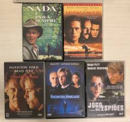 Cinco filmes Brad Pitt 5 DVDs originais