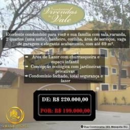 Apartamento de 2 quartos ( 1 Suíte) Vivendas do Vale 1 - Cosmorama - Mesquita