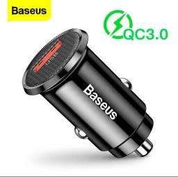 Carregador veicular ultra rápido Baseus turbo Power QC-3.0 O melhor e +rápido