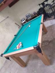 Mesa Tentação Bilhar Cor Cerejeira Tecido Verde Mod. GBVX8728