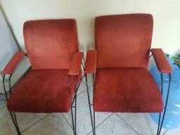 Cadeiras para escritório/sala vermelhas
