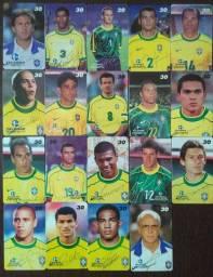 Cartões telefonicos série seleção brasileira de 1998