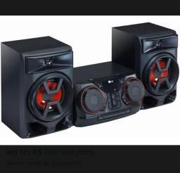 Vende se mini system LG ck43 220w rms bluetooth USB entrada auxiliar
