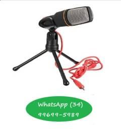 Microfone omnidirecional preto
