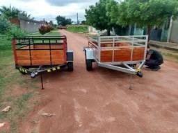 Carretinha gás e água e transporte de carga