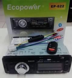 Som Automotivo MP3 USB Bluetooth Cartão de Memória