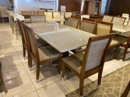 Título do anúncio: Mesa de jantar encosto telinha marrom e acabamento laka luxo