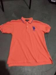Camisa Polo USPA 14-16 EUA Laranja