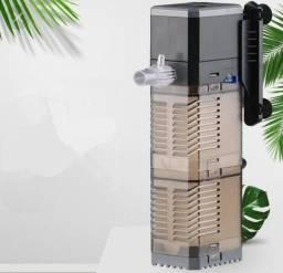 Título do anúncio: Filtro para aquário 3 em 1, bomba de ar para aquário, aumento de oxigênio, filtro interno