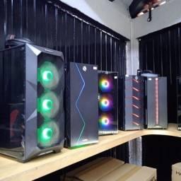 Título do anúncio:  Gabinetes Gamer RGB Pc Gamer Cooler Led Acrilico/Vidro! Loja Fisica Curitiba! a partir de