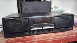Tape duplo cassete deck Pioneer CT-W502R