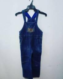 Título do anúncio: Macacão Jeans Infantil Unissex - Tamanho 8