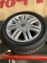 Título do anúncio: Jogo de rodas com pneus Gm 4x100 aro 15
