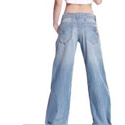 Título do anúncio: Calça Jeans Casual Vintage de pernas largas