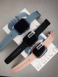 Smartwatch iWO Max Serie 5 P8 Brinde Pulseira extra Couro