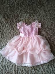 Título do anúncio: Vestido rosa princesa