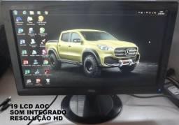 19 LCD resolução HD com audio