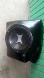 Caixa fibra sub com alto falante 12