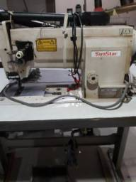 Máquina de costura reta pé duplo