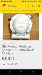 GLP redutor Rodagas senior 3 + Eletroválvula com filtro