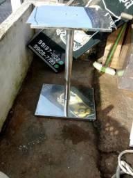 Mesa de inox com tampo giratorio