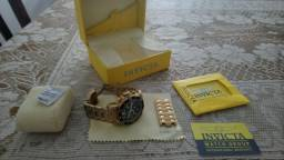 fb64c62767c Relógio Invicta - Banhado a Ouro 18
