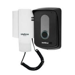 Interfone intelbras instalado no local