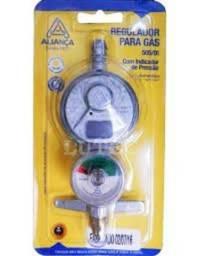 Registro Regulador De Gás Com Manômetro 505/01 - Uso Doméstico - Aliança