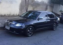 Civic LX 03 preto barato! - 2003