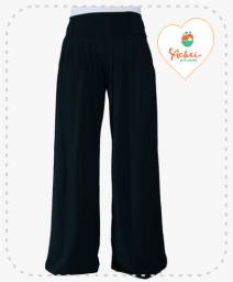 Calça Pantalona Preta Lisa